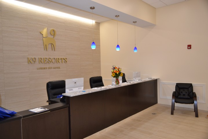 Front desk of K9 Resorts